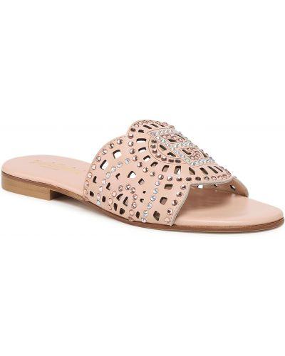 Różowe sandały na lato Baldinini