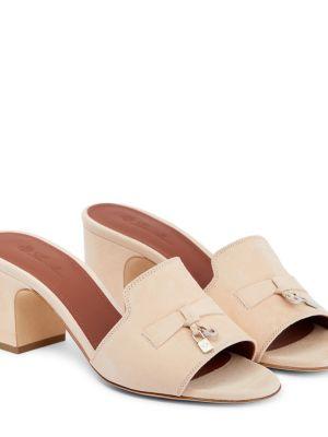 Кожаные сандалии - желтые Loro Piana