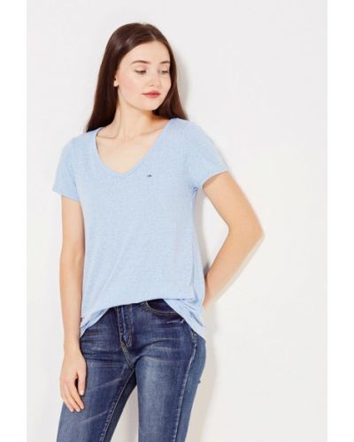Джинсовая футболка - синяя Tommy Hilfiger Denim