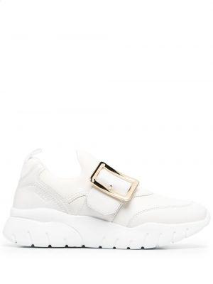 Кожаный белый топ на каблуке Bally