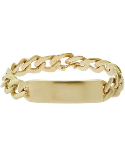 Żółta złota bransoletka łańcuch Maison Margiela