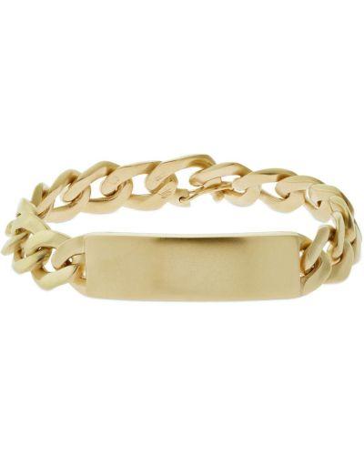 Bransoletka łańcuch srebrna - żółta Maison Margiela