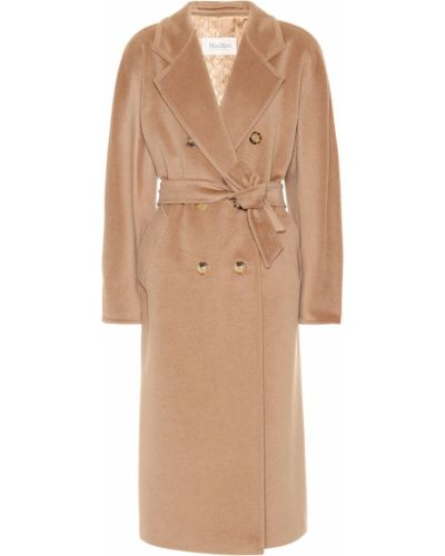 Пальто классическое бежевое плюшевое Max Mara