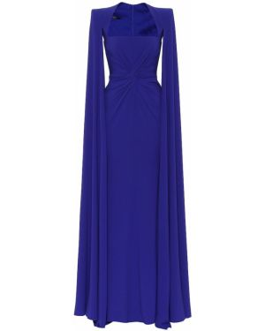 Платье синее годе Alex Perry