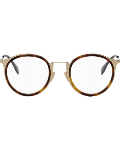 Okulary skorzane - białe Fendi