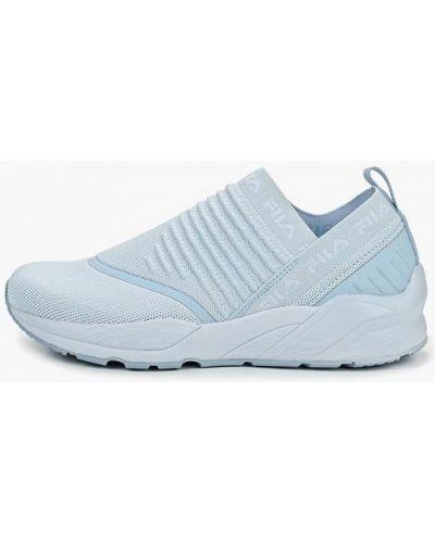 Голубые кроссовки низкие Fila