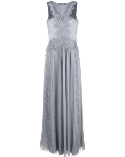 Шелковое вечернее платье - серое Alberta Ferretti
