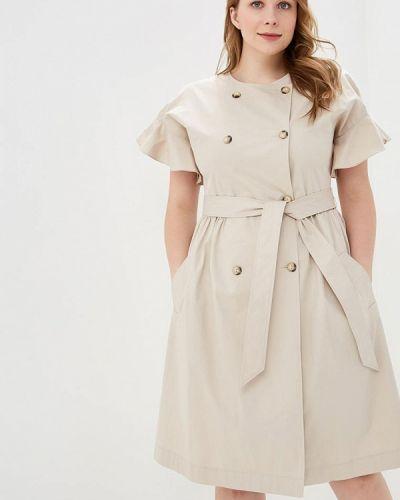 Платье бежевое Calista