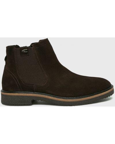 Кожаные ботинки высокие замшевые Camel Active