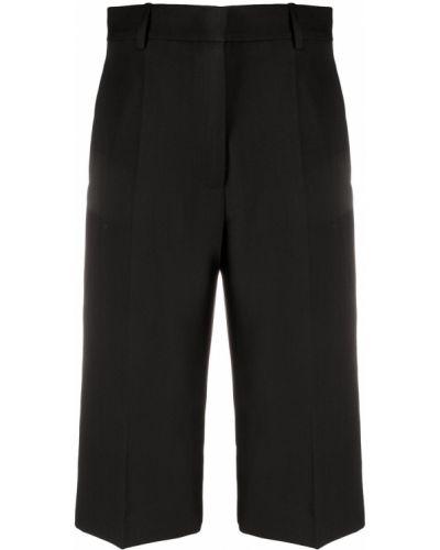 Хлопковые черные шорты с карманами Victoria Beckham