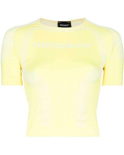 Желтая спортивная футболка Misbhv