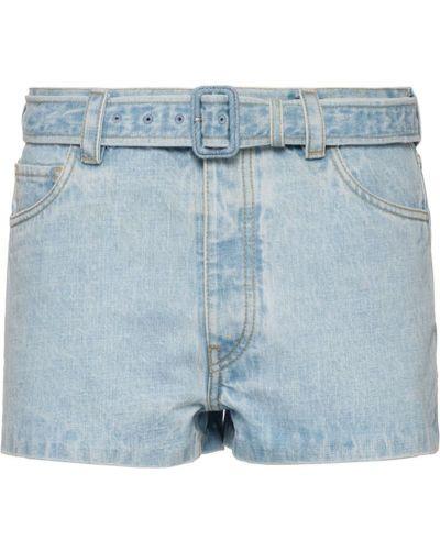 Джинсовые шорты с заниженной талией с карманами Prada