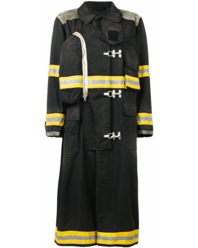Черное длинное пальто с капюшоном Calvin Klein 205w39nyc