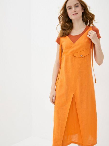 Оранжевое платье D`imma