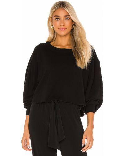 Z rękawami bawełna włókienniczy czarny pulower Lanston