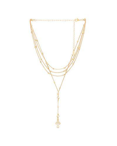 Ожерелье из бисера из золота Ettika