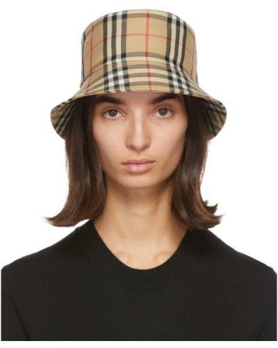 Bawełna bawełna biały kapelusz z haftem Burberry