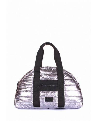 Спортивная сумка серебряного цвета Poolparty