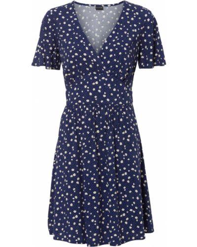 Платье в горошек с завязками Bonprix