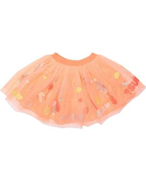 Юбка из фатина - оранжевая Billieblush