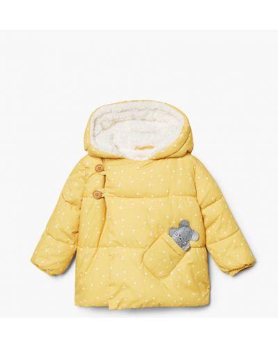 Куртка желтый на овчине Mango Kids