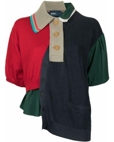 Zielona klasyczna bluzka Kolor