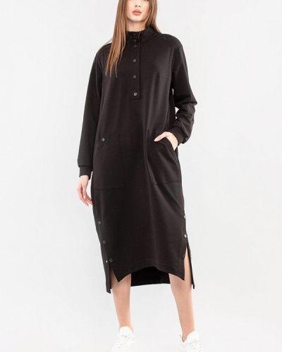 Повседневное черное платье Maxa