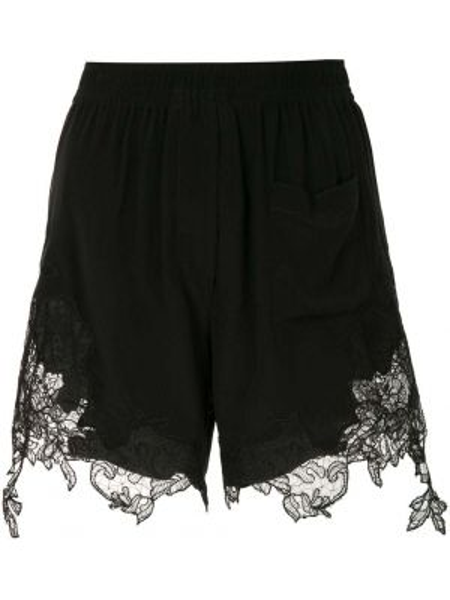 Шелковые кружевные черные шорты Vera Wang