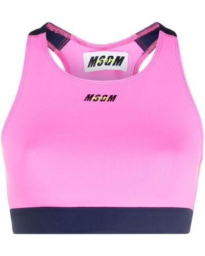 Розовый лиф без рукавов круглый Msgm