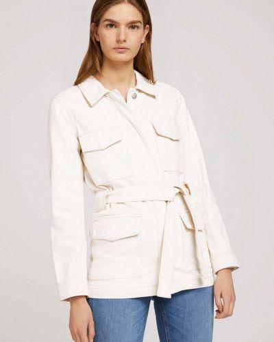 Облегченная белая джинсовая куртка Tom Tailor Denim