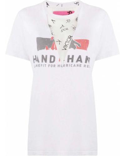Свободная футболка свободного кроя сетчатая из вискозы Viktor & Rolf