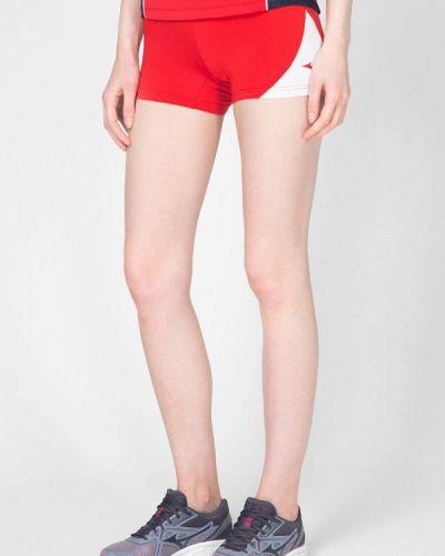 Красные спортивные шорты Mizuno