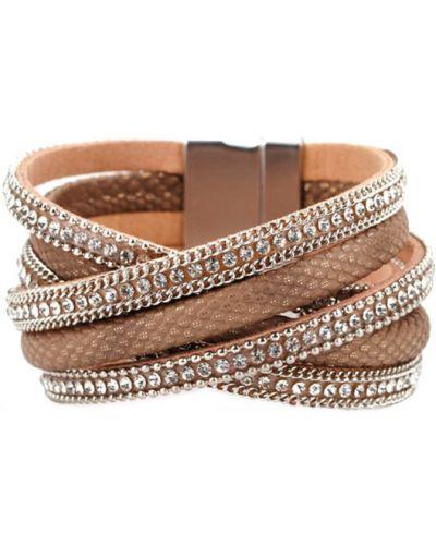 Кожаный браслет - коричневый Evora