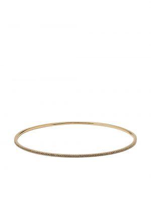 Золотистый желтый золотой браслет с бриллиантом Carolina Bucci