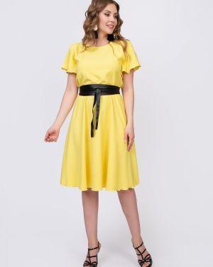 Платье с поясом платье-сарафан из вискозы Diolche