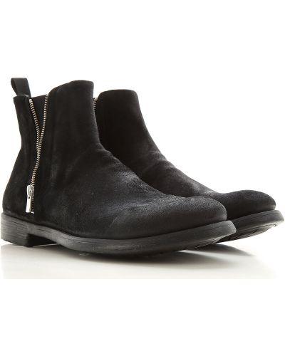 Zamsz czarny buciki okrągły Officine Creative