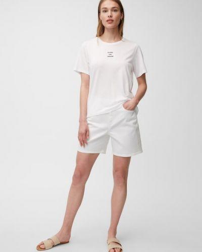 Białe szorty bawełniane Marc O Polo