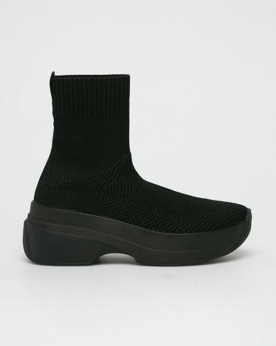 Кроссовки на платформе черные текстильные Vagabond