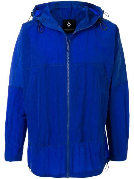 Niebieska kurtka z kapturem z długimi rękawami Marcelo Burlon County Of Milan