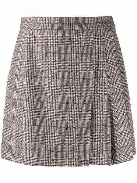Шерстяная юбка мини Federica Tosi