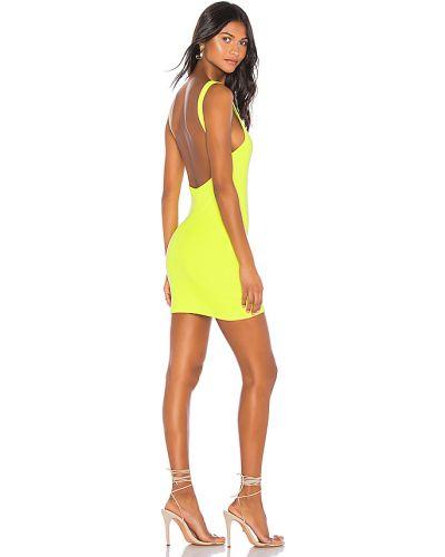 Włókienniczy zielony bawełna sukienka mini rozciągać Superdown