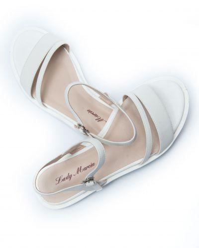 Кожаные сандалии - белые Lady Marcia
