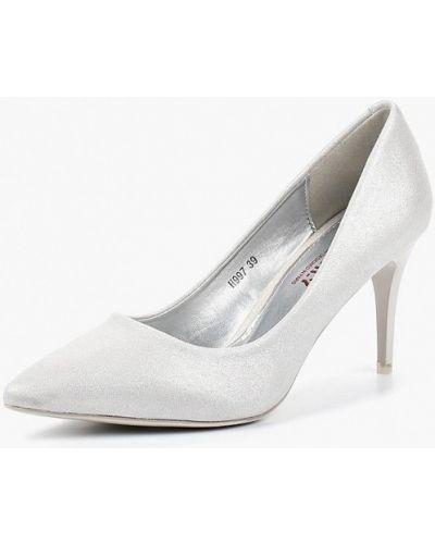 Туфли-лодочки серебряного цвета Exquily