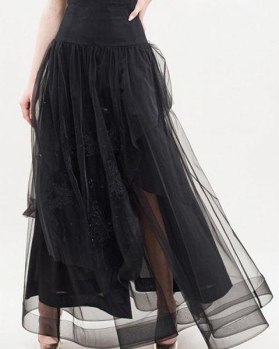 Черная юбка свободного кроя Maxa