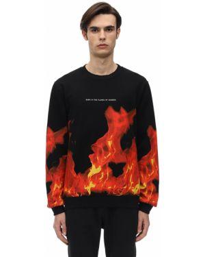 Prążkowana czarna bluza bawełniana Ihs