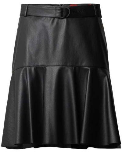 Czarna spódnica z paskiem Hugo