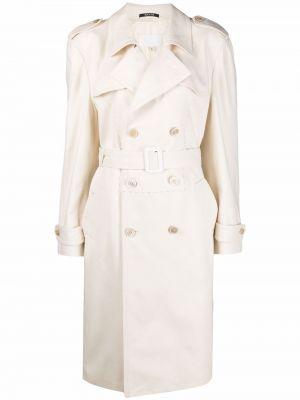 Biały długi płaszcz bawełniany z długimi rękawami Maison Margiela