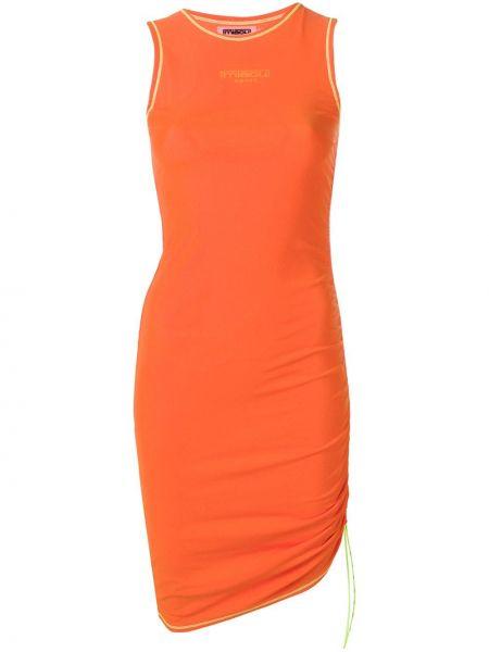 Оранжевое нейлоновое платье без рукавов Miaou