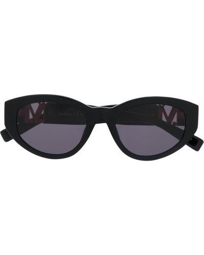 Золотистые черные солнцезащитные очки Max Mara