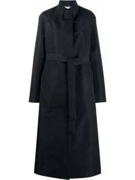 Длинное пальто с поясом на пуговицах с воротником Rochas